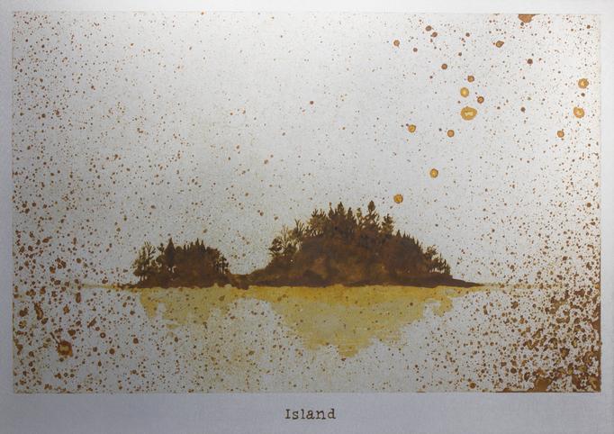 島 / Island / H182×W257mm / 10/.2017