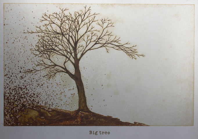 大きな木 / A Big tree / H182×W257mm / 10.2017