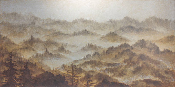 朝霧 / Morning mist / H250×W500mm / 07.2018