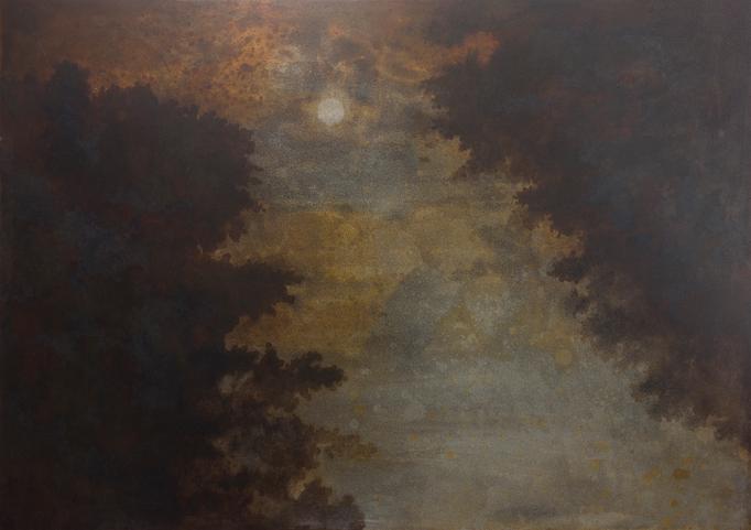 夜のとばり / The shades of night / H257×W182mm / 07.2018
