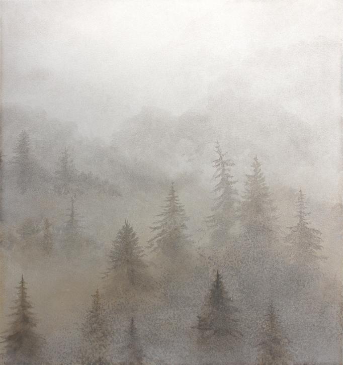 霧の森 / Forest in the fog / H267×W249mm / 08.2018