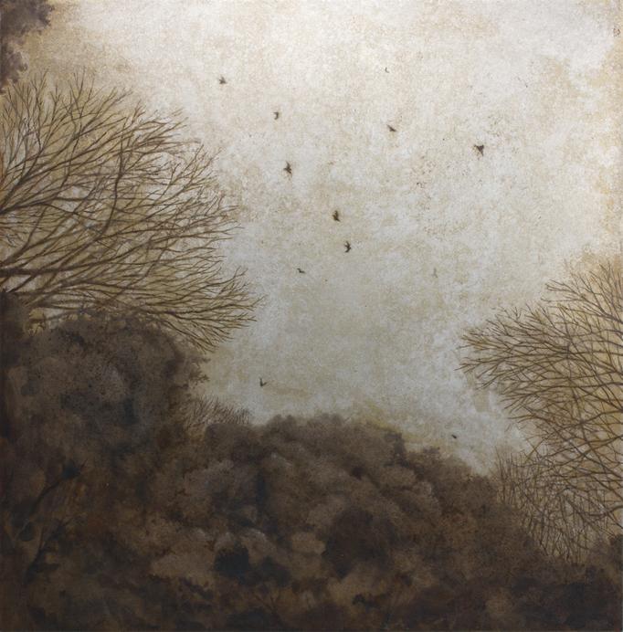 鳥と木々 / Birds and trees / H250×W250mm / 07.2018