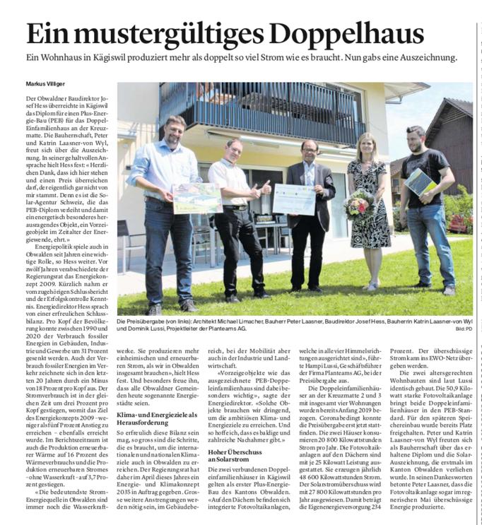 Obwaldner Zeitung vom 08.06.2021