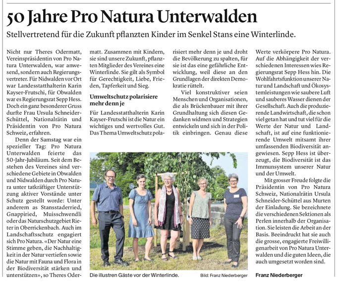 Obwaldner Zeitung vom 21.06.2021