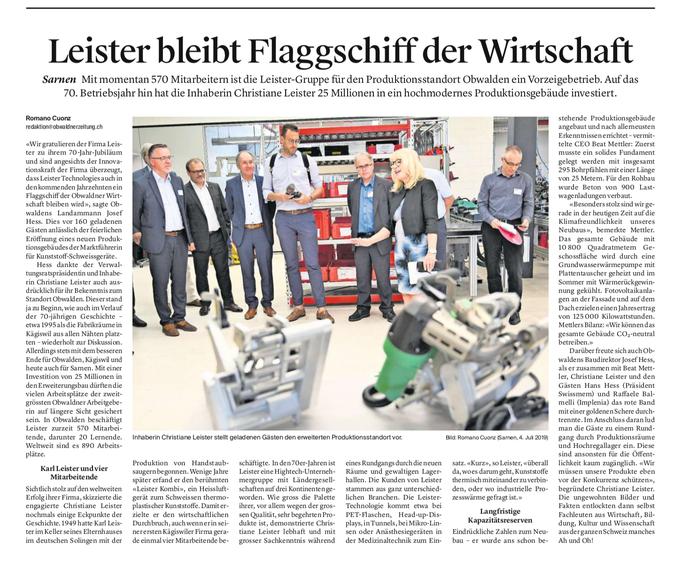 Obwaldner Zeitung vom 05.07.19