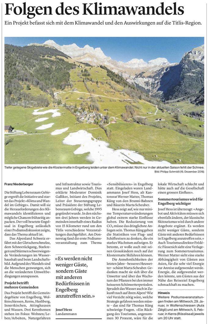 Obwaldner Zeitung vom 18.01.2020