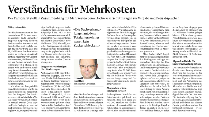Obwaldner Zeitung vom 23.10.2020