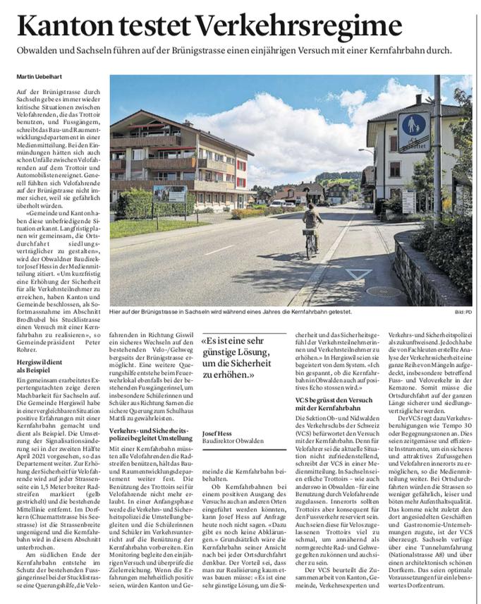 Obwaldner Zeitung vom 24.03.2021