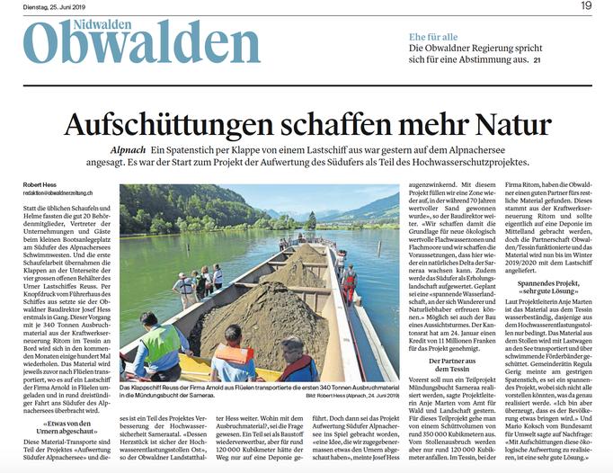 Obwaldner Zeitung vom 25.06.19