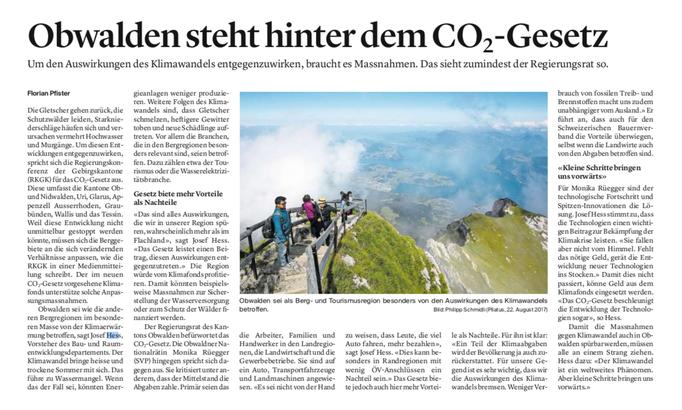 Obwaldner Zeitung vom 21.05.2021