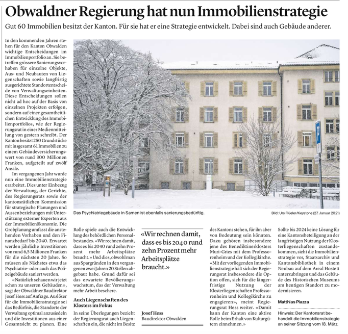 Obwaldner Zeitung vom 06.02.2021