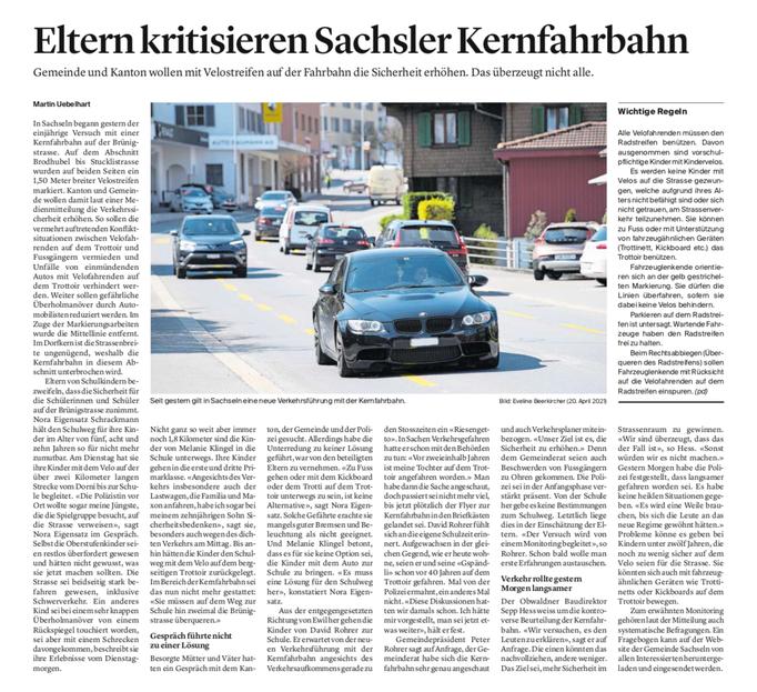 Obwaldner Zeitung vom 21.04.2021