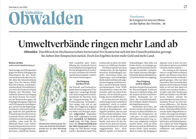 Obwaldner Zeitung vom 08.06.19