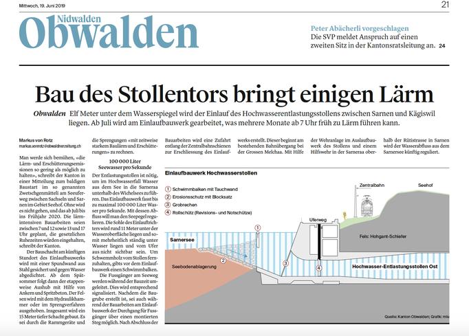 Obwaldner Zeitung vom 19.06.19