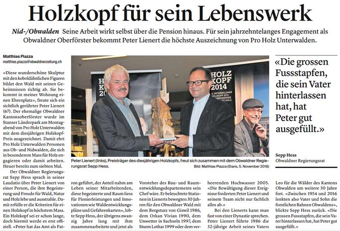 Obwaldner Zeitung vom 07.11.18