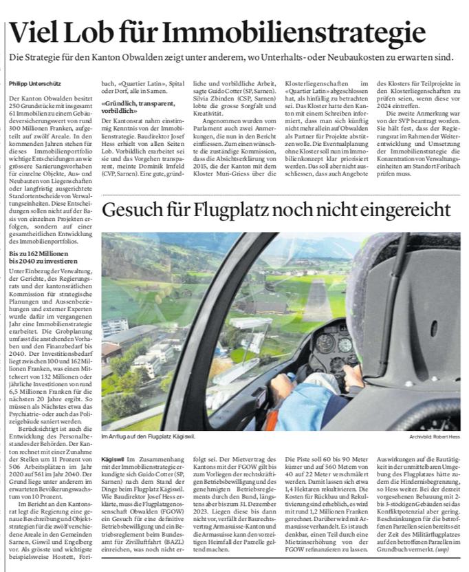 Obwaldner Zeitung vom 19.03.2021