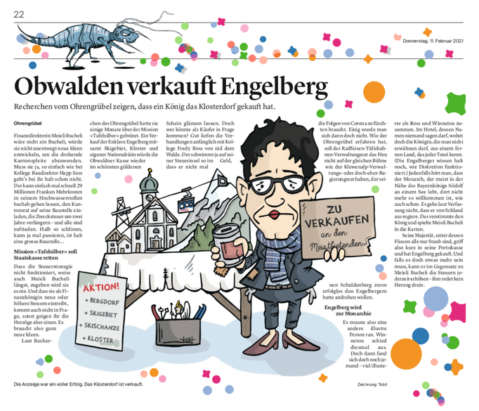 Obwaldner Zeitung Ohrengrübel vom 11.02.2021