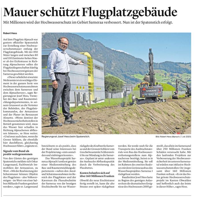 Obwaldner Zeitung vom 08.07.2020