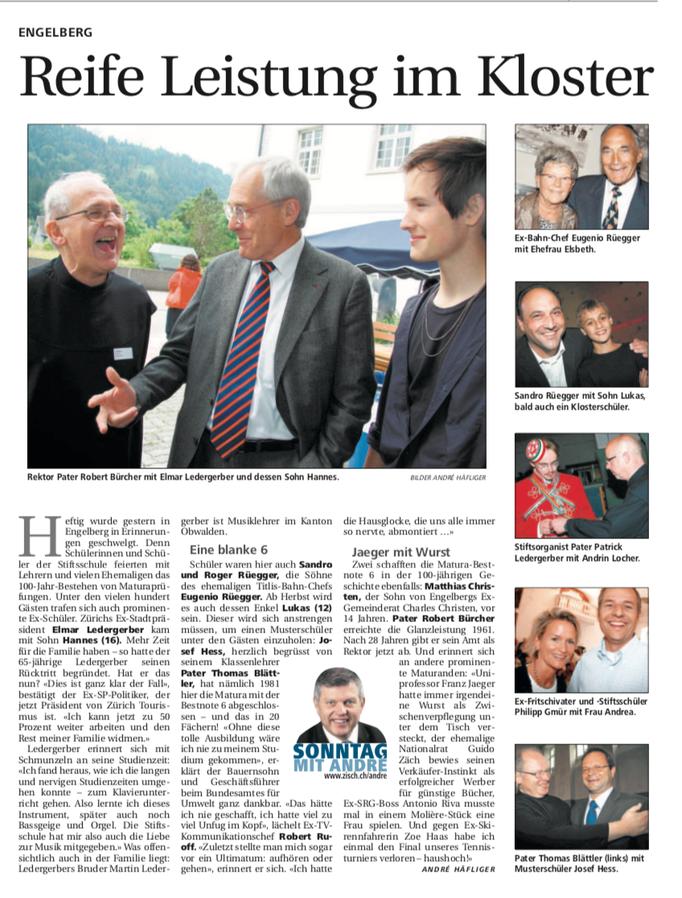 Obwaldner Zeitung vom 21.06.2009