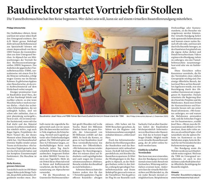 Obwaldner Zeitung vom 03.12.2020