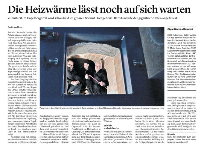 Obwaldner Zeitung vom 13.12.2019