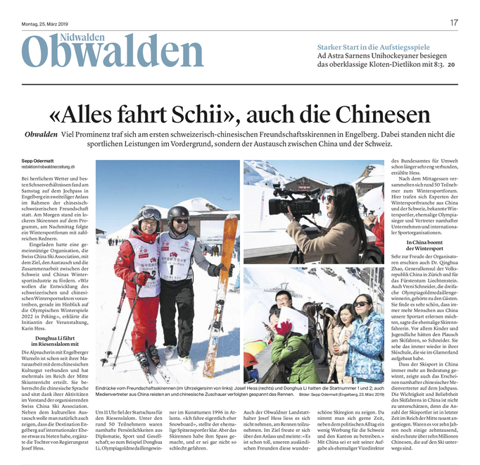 Obwaldner Zeitung vom 25.03.19