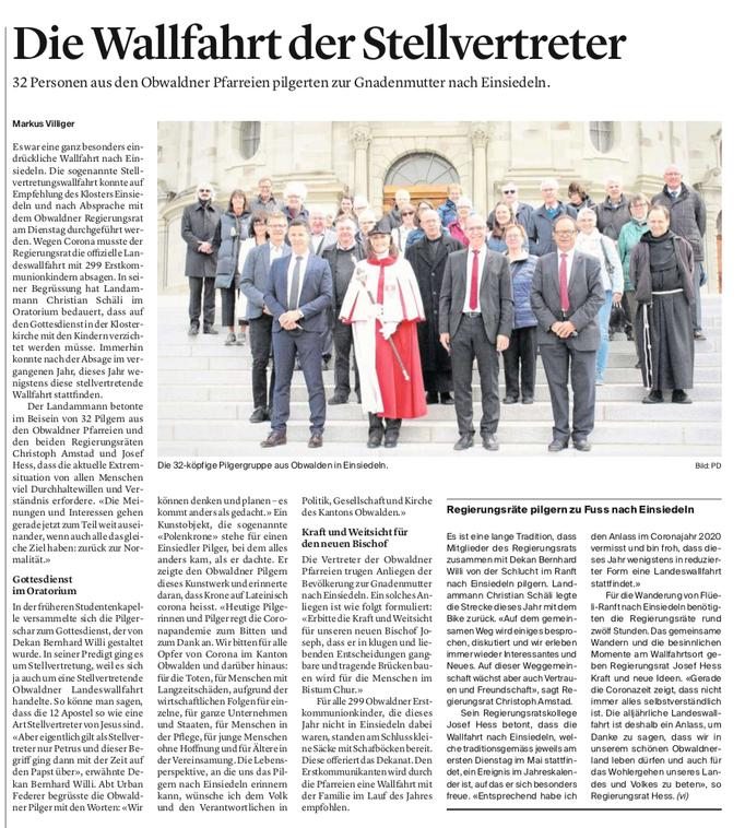 Obwaldner Zeitung vom 06.05.2021