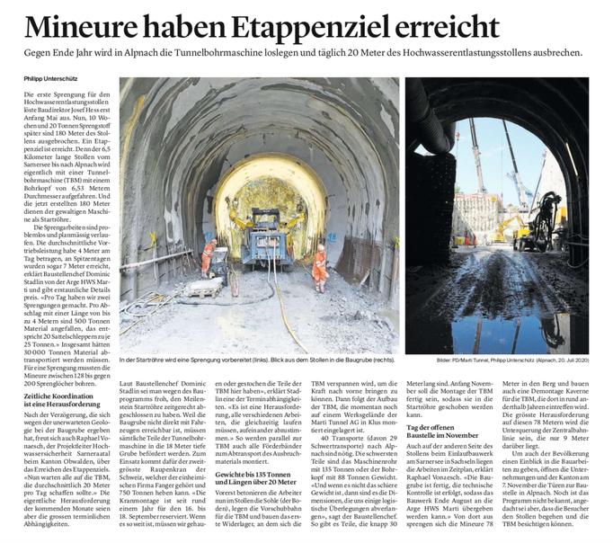 Obwaldner Zeitung vom 22.07.2020
