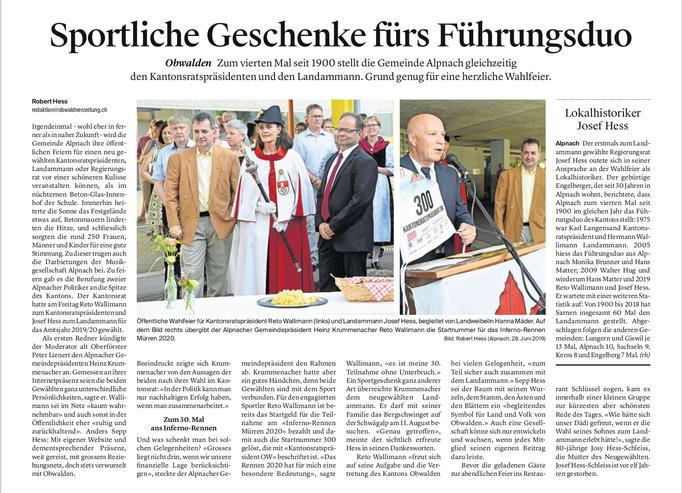 Obwaldner Zeitung vom 01.07.19