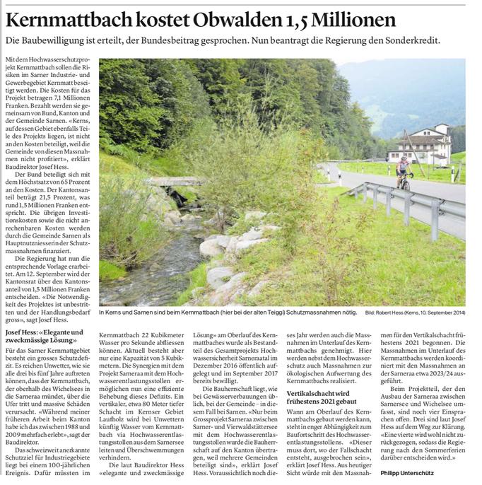 Obwaldner Zeitung vom 09.07.19