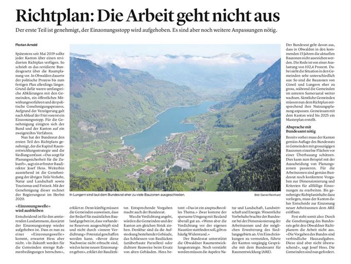Obwaldner Zeitung vom 25.06.2020