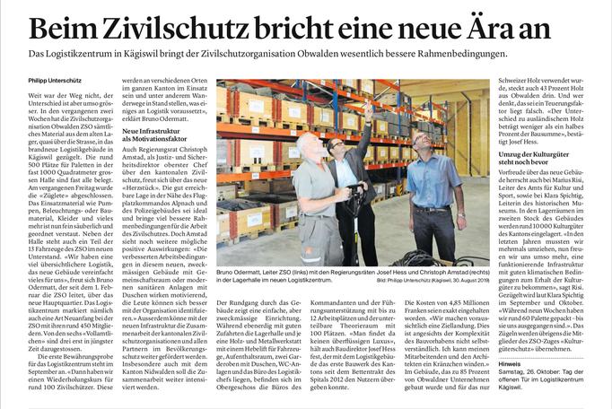 Obwaldner Zeitung vom 02.09.19