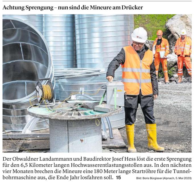 Obwaldner Zeitung vom 06.05.2020