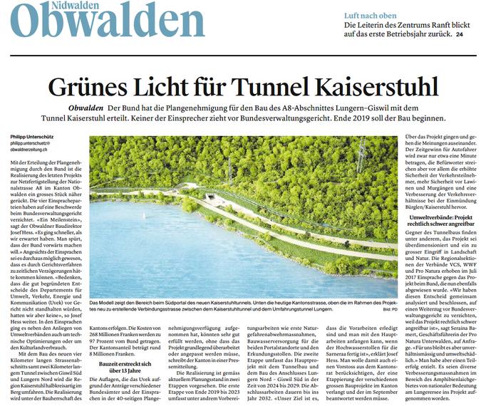 Luzerner Zeitung vom 26.07.18