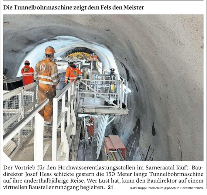 Titelseite Obwaldner Zeitung vom 03.12.2020