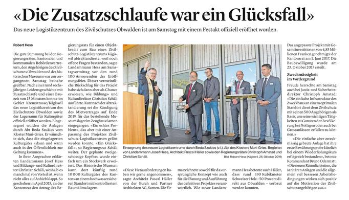 Obwaldner Zeitung vom 28.10.2019