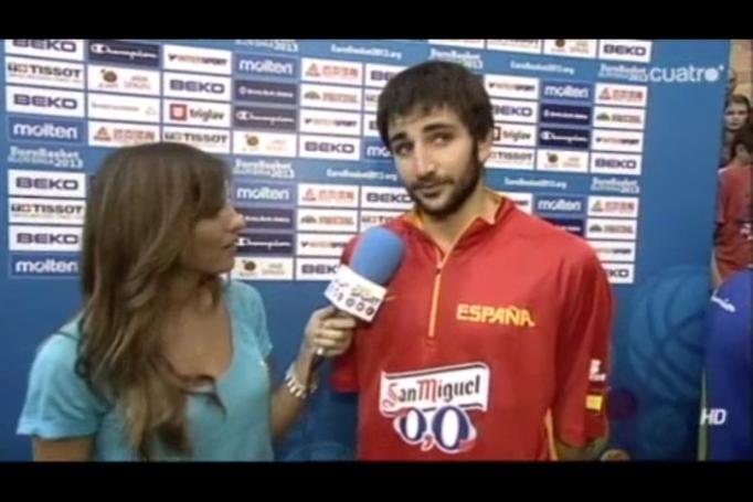 Entrev. Ricky Rubio - Eurobasket Eslovenia 2013
