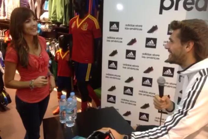 Test Fernando Llorente. Tienda Adidas Arona