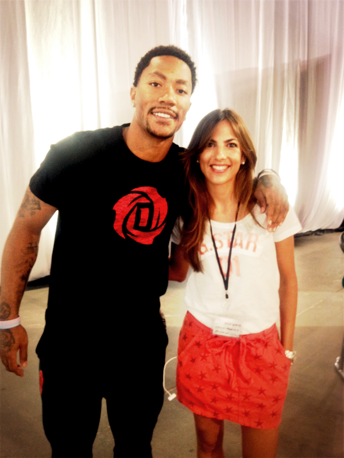 Con Derrick Rose en un evento en Las Vegas