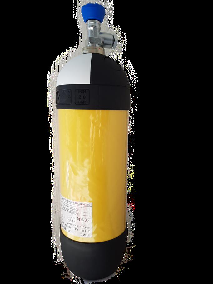 CFK Atemluftflasche gelben Flaschenumfang