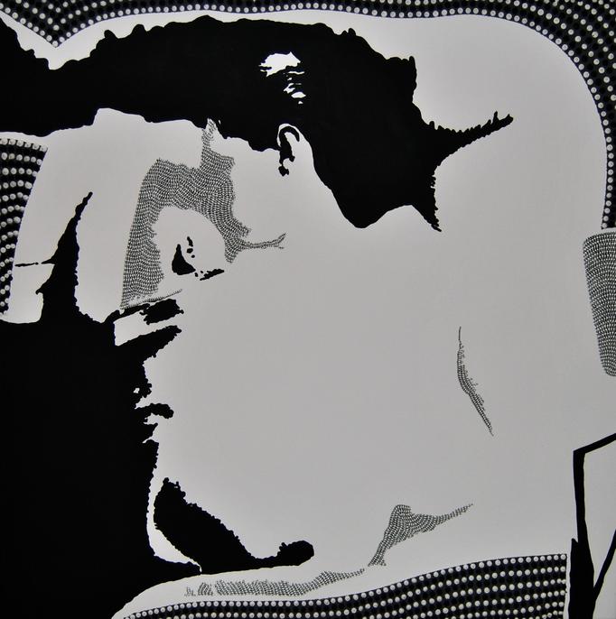 Schlafende mit Kind (2013) - 75 x 75 cm - Acryl auf Leinwand