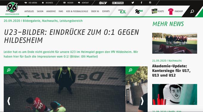 - 20. 09.2020 - U23-Bilder: Eindrücke zum 0:1 gegen Hildesheim