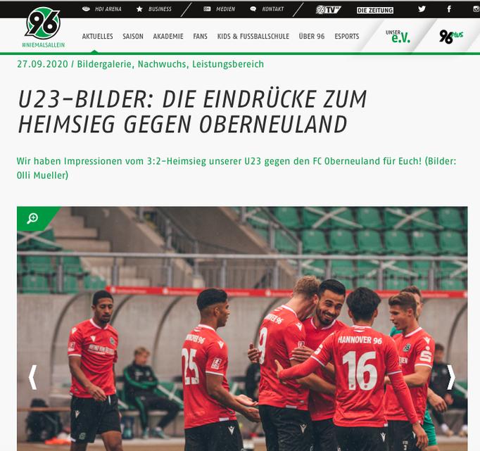 - 27.09.2020 - U23-Bilder: Die Eindrücke zum Heimsieg gegen Oberneuland