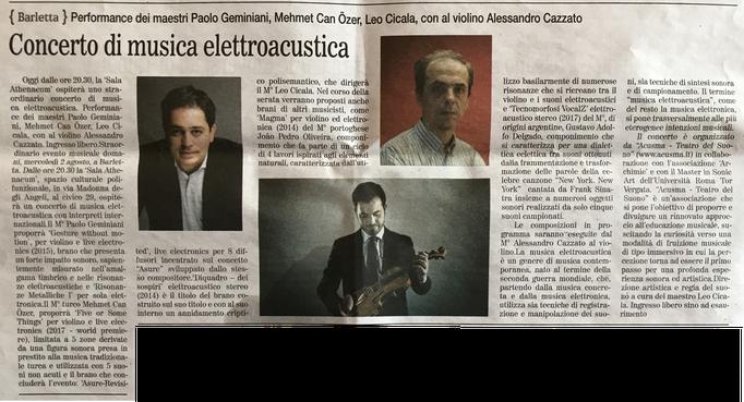 """""""Gazzetta del Mezzogiorno"""", 2017"""