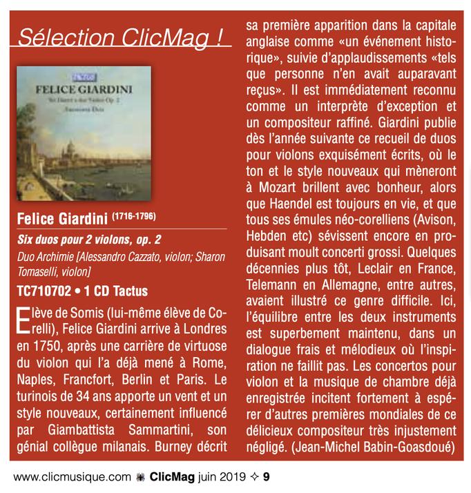 CliqueMusique, 2019