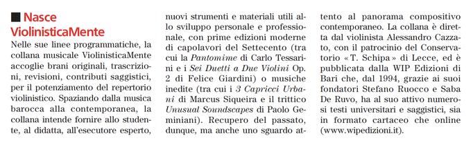 "Rivista ""Musica"", 2020"