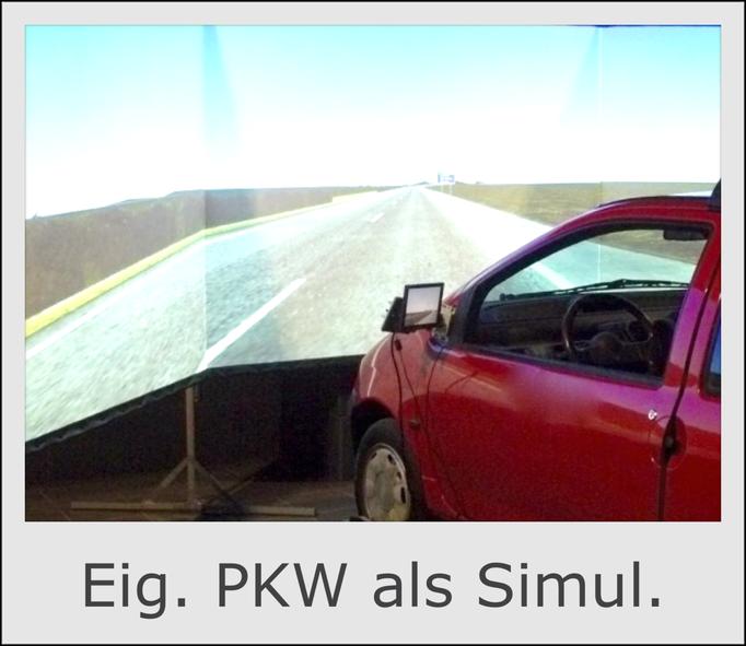 Direkt Simulator Simulation für eigenen PKW oder Auto