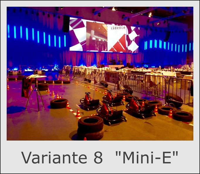 """Mobile Kartbahn Variante 8 """"Mini Elektroautos"""" mieten"""
