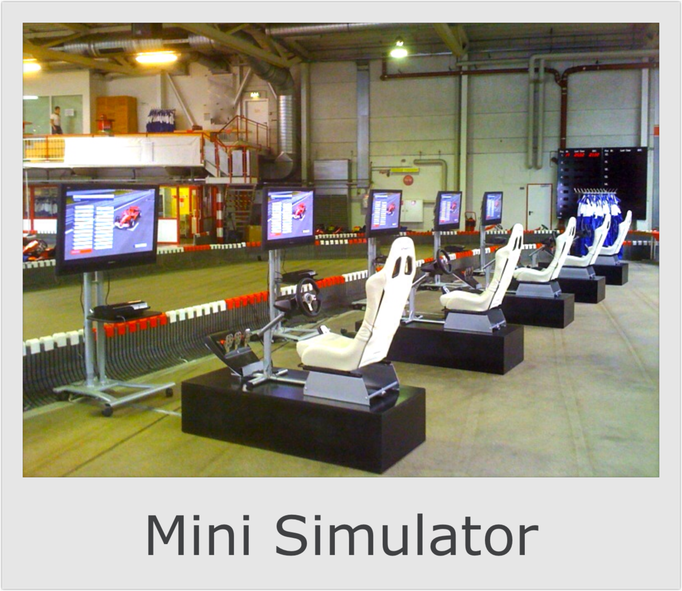 Mini Formel 1 & DTM Rennsimulator mieten