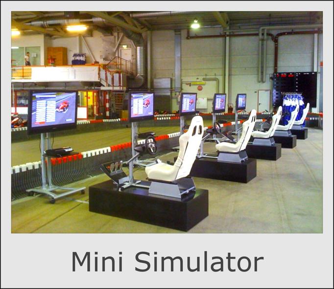 Mini Formel 1 & DTM Simulator mieten, Formula 1 Simulator rental rent, F1 Simulator hire